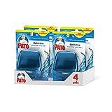 Pato - Gel Activo recambio colgador para inodoro Marine, limpia y perfuma, (Pack de 4)