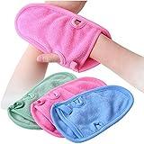 SYBL 3 Guantes de baño para Ducha de Cuidado de la Piel Suave, Masaje Corporal para Adultos y niños (Color al Azar)