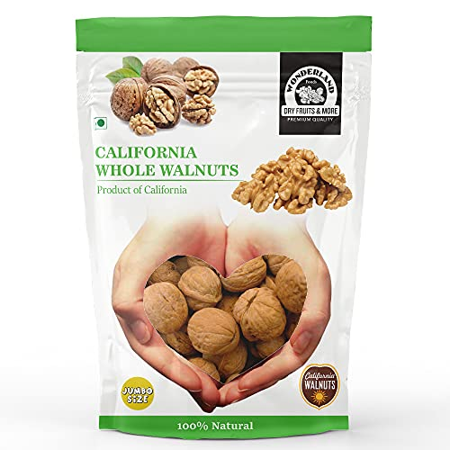 WONDERLAND FOODS (DEVICE) 1 kg Akhrot with Shells Jumbo Size, Premium California Whole Walnuts, 1000 Gram