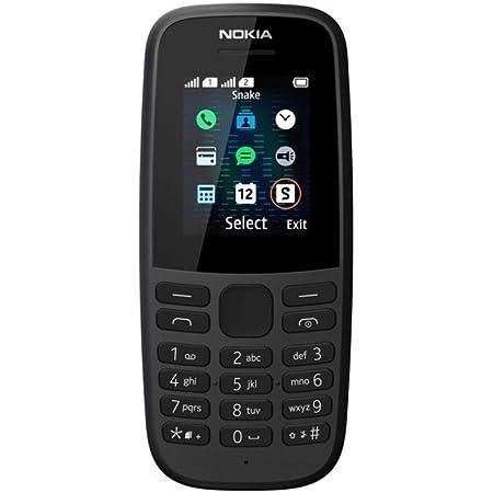 """Nokia 105 - Teléfono móvil de 1,77"""" (4 MB RAM, 4 MB ROM, Batería 800 mAh, Dual Sim),Negro [Versión ES/PT]"""