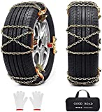 Snow Chains, 8 Pack Tire Chains for Pickup Trucks Car SUV Heavy Duty Chain for Tire Width 205-235mm