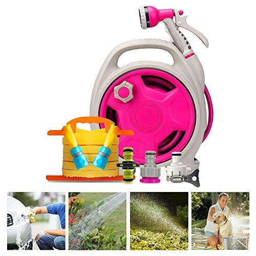 Roze Tuinslang Nozzle Heavy Duty Nozzle Niet-slip Ergonomische Grip Hoge Druk Spuitpistool Voor Watering Planten Nozzles Spuitpistolen HUYP