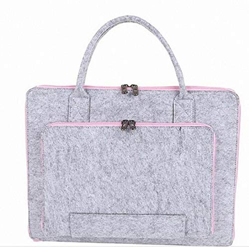 11/13/15.6/17 Inch Laptop Bag, Felt Laptop Sleeve Notebook Computer Case Carrying Bag Pouch with Handle for Asus/Lenovo For men's and women's travel school lawyers (Color : Pink, Size : 11.6)