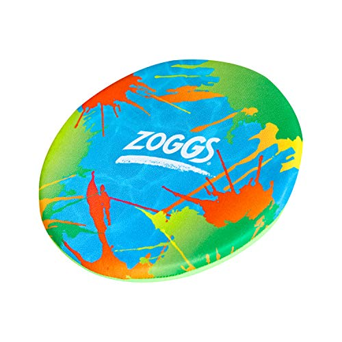 Zoggs Unisex-Youth Foam Frisbee, 20cm, Flying Disc, Pool Toy, Multicolour