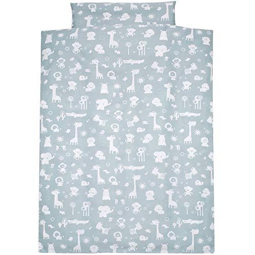 Alvi Bettwäsche für Kinderbett Zootiere puderblau 100x135 cm 401209111
