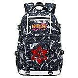 ZXJWZW Mochila De Anime De Dibujos Animados Naruto Boy Fashion Shoulders Bags USB Book Schoolbag Friend Gift
