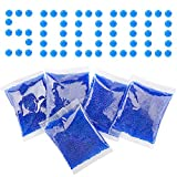 Nazano Water Ball Beads Refill Ammo (5 Pack–10,000 Per Pack)– Water Bullets Beads Made for Eco Friendly, Non-Toxic, Water Based Balls Bullet (Blue 5 pack-7-8mm)