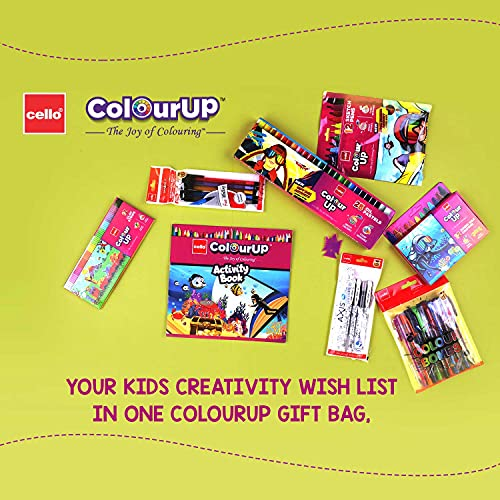 Cello ColourUP Hobby Bag for Kids | Drawing Kit | Stationery Kit | Best for Gifting | Oil Pastel (25 Units) | Jumbo Wax Crayon (12 Units) | Free... 5