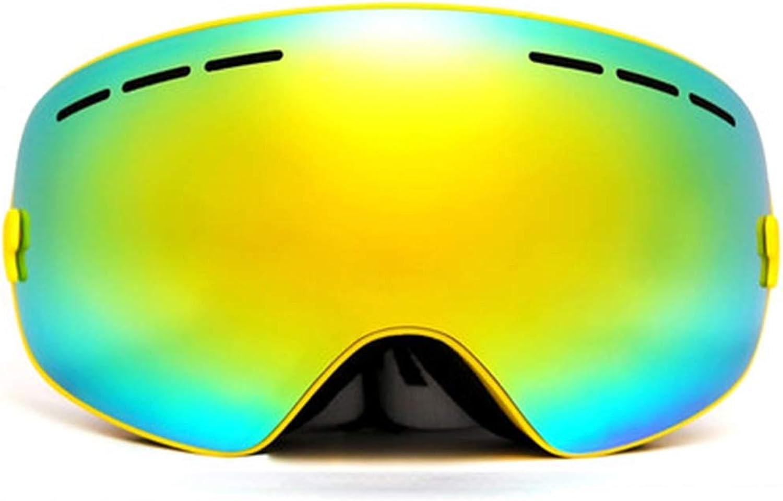 Skifahren Skibrillen Männer und Frauen Schutzbrillen Winter Skibrillen Snowboard Spiegel große kugelförmige Skibrillen Doppel-Anti-Nebel kann Myopie Skibrille männlichen Outdoor-Klettern weiblichen pr B07JYCFPW7  Günstigstes