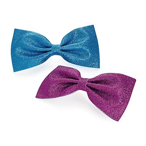 Paire de Grand motif Pin up bleu et violet paillettes Bec Pinces à cheveux