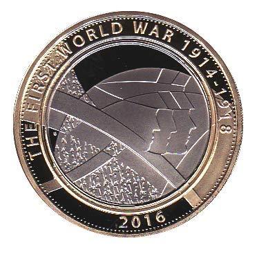 Mint RARE - Moneda de 2 libras con soporte para cápsulas Airtite en una bolsa
