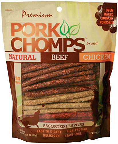 Premium Pork Chomps Munchy Sticks Beef & Chicken