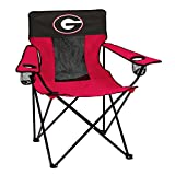 NCAA Logo Brands Georgia Bulldogs Elite Chair, Team Color