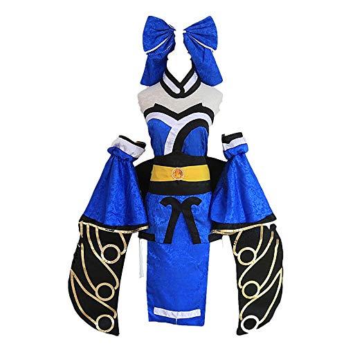 MLYWD Cosplay Kostüm Halloween Maskerade Spiel FGO/Schicksal/Großauftrag Tamamo no Mae Süße Lolita Gothic Kleid Anzüge mit Zubehör 9PCS / Set
