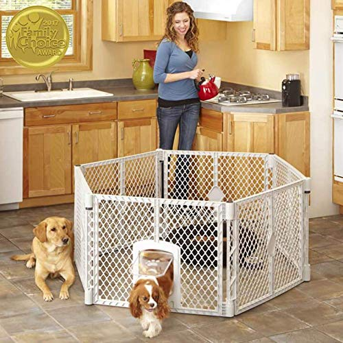 """North States Mypet Petyard Passage: 4, 6 or 8 panel pet enclosure with lockable pet door. Freestanding. 7 sq. ft to 34.4 sq. ft. (26"""" tall)"""