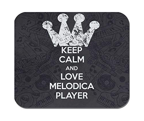 Makoroni - Keep Calm and Love Melodica Player - Non-Slip Rubber - Computer, Gaming, Office Mousepad