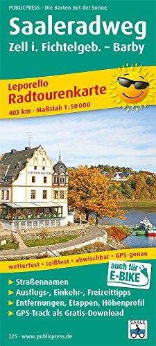 Saaleradweg, Zell im Fichtelgebirge - Barby 1:50 000: Leporello Radtourenkarte mit Ausflugszielen, Einkehr- & Freizeittipps sowie Entfernungen, ... reissfest, abwischbar, GPS-genau. 1:50000