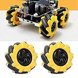 Mecanum Wheel Robot Kit, rueda artificial All Round Wheel Set DIY Smart Robot Car Chasis Kit para acoplamiento TT Muela abrasiva con múltiples modos de movimiento 80 mm / 3,1 pulgadas(2 pair)