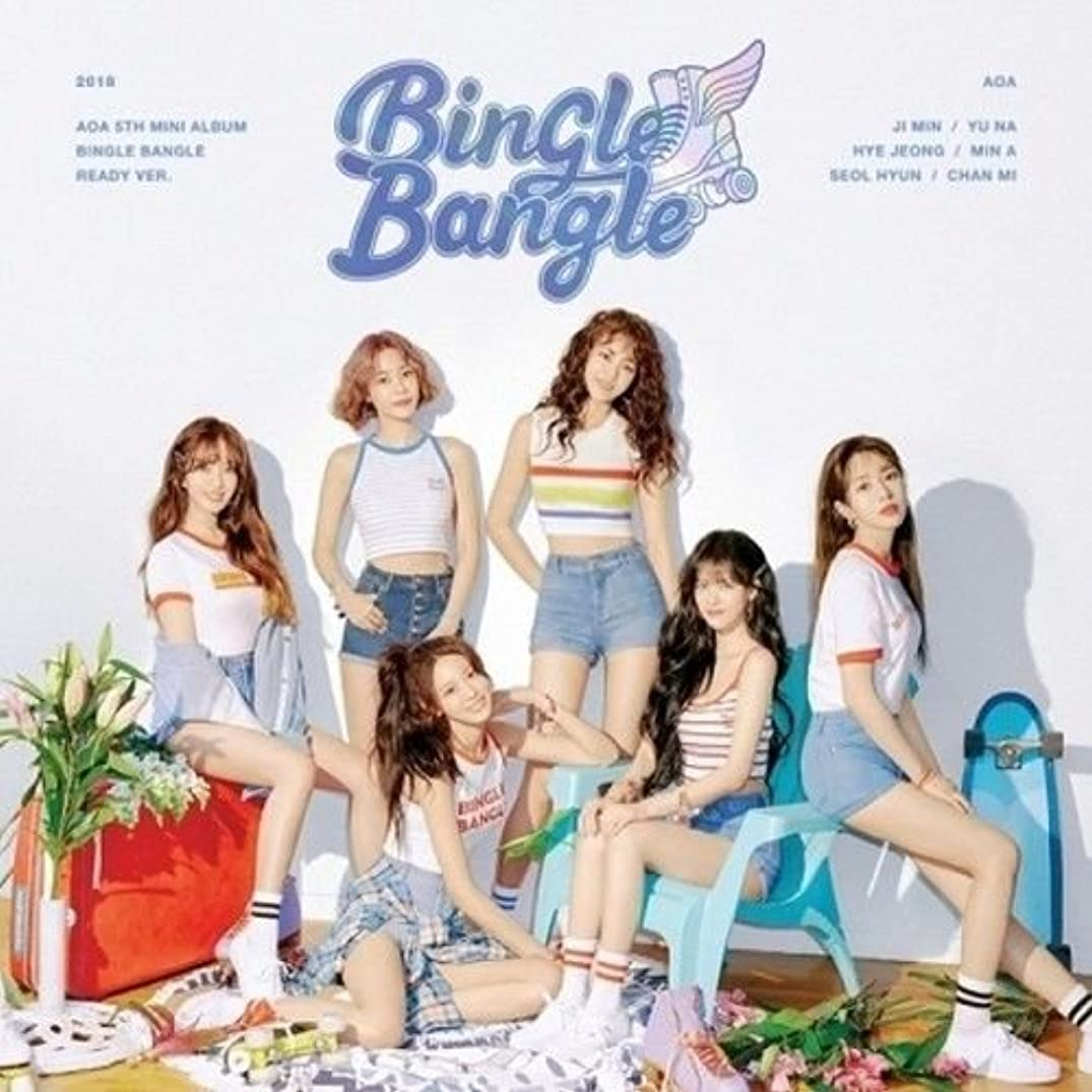 AOA - [Bingle Bangle] 5th Mini Album Ready CD+Booklet+Sticker+PhotoCard+Post K-POP