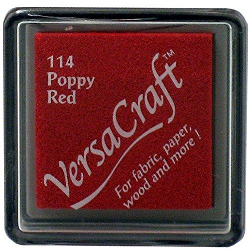 VersaCraft vks-114Stempel Stoff, kleiner Cube 25x 25mm Poppy rot