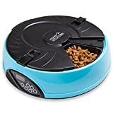 Home Intuition 6 Meal Automatic Pet Feeder with Programmable Timer, Light Blue