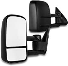 SCITOO Towing Mirrors Fit Chevy GMC Exterior Accessories Mirrors Fit 1999-2007 Chevy/GMC Silverado/Sierra 1500 2500HD 3500HD with Convex Glass Manual Controlling and Telescoping Features