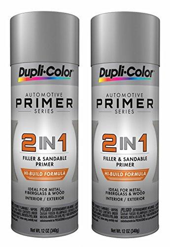 Dupli-Color DAP1700 2 in 1 Hi-Build Filler & Sandable Primer 12 oz. Aerosol (2 PACK)