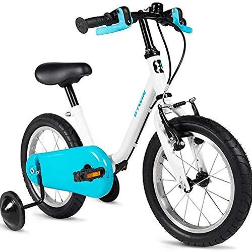 WXX 3-4-5 Jahre Alt Kinder Fahrrad 14 Zoll High Carbon Stahl-Rahmen-Baby Gleichgewicht Auto Mit Stützrad Anti-Skid-Reifen Rennrad