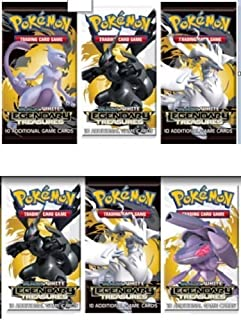 6 SEALED BOOSTER PACKS - Pokemon TCG Trading Card Game Black & White BW Series #11: LEGENDARY TREASURES Booster Packs [Release Date: November 8 2013]