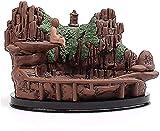 Incienso Quemador de cerámica Buda Estatua Retroflow Incensate Quemador de la Cascada Regalo de aromaterapia para el Templo Budista, B