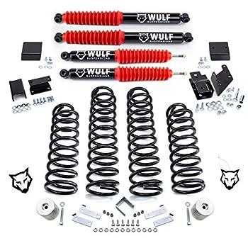 WULF 3  Lift Kit w/Shocks For 2007-2018 Jeep Wrangler JK Wrangler
