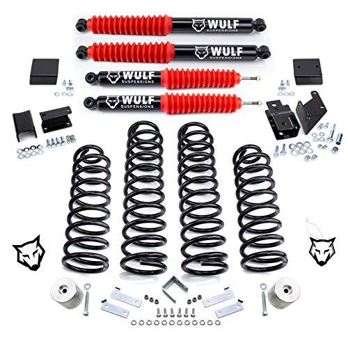 """WULF 3"""" Lift Kit w/Shocks For 2007-2018 Jeep Wrangler JK Wrangler"""