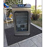 Electric Smoker Mat,Premium Oven Protective Mat—Protects Decks and Patios from Grease Splashes,Absorbent Material-Contains Smoker Splatter,Anti-Slip and Waterproof Backing,Washable (36' x 36')