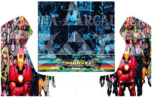 Zona Arcade Vinilo para recreativa bartop (Marvel)