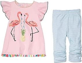 Mud Pie Baby Girl's Flamingo Tunic and Capris (Toddler)