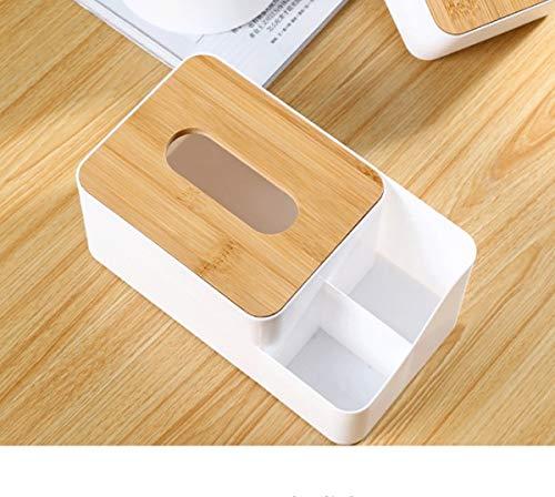 Madeinely Tissue Box Weiß Multifunktions-Kunststoff-Papiertuchspender Box Cover-Kasten-Serviette-Halter-Ausgang Haushalt Dekoration for Wohnzimmer 1 Größe Für Waschtisch im Bad Countertops