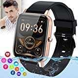 Fswatch Smart Watch,Smartwatch for Android Phones,Ip67 Waterproof Fitness Watch with Blood Pressure Heart Rate Monitor Activity Tracker with Pedometer Calorie Compatible for Samsung iOS Women Men