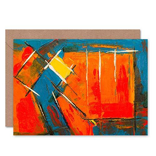 Fine Art Prints Carte de vœux expressionnisme avec peinture acrylique abstraite avec enveloppe intérieure de qualité supérieure.
