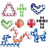 Vientiane 10 Pezzi Mini Serpente Cubo, Mini Puzzle Cubo di Plastica Giocattolo Cubi di velocità Magica per Bambini Partito Bag Filler, Rifornimenti del Partito (Colore Casuale)