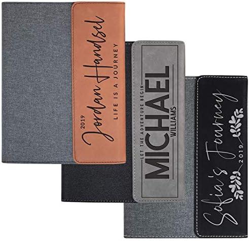 Personalized Portfolio Padfolio Business Portfolio w Magnetic Closure Organizer Folder Leather product image