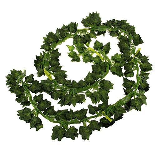 FENICAL Guirnalda de hojas artificiales para colgar en el hogar, jardn, decoracin de pared, diseo de hojas de patata, para boda, hiedra venenosa, decoracin de boda, 2 m