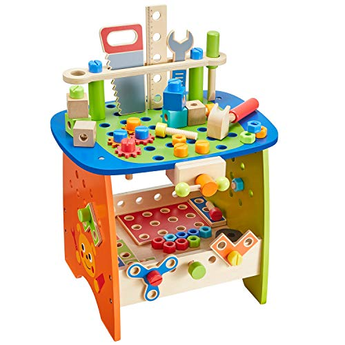 Ohuhu Tool Bench Set Kids Toy Play Workbench, Kids Wooden...
