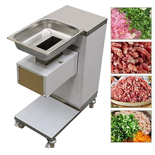 Why Choose Commercial Meat Slicer,1100LB/H 550W Stainless Steel Fresh Meat Cutter 5mm Cutting Blade ...