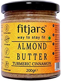 FITJARS All Natural Turmeric Cinnamon Almond Butter( Stone Ground Vegan Butters )-200 Ge
