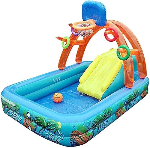 ZXC Piscina inflable de la bola del océano, piscina infantil de la diapositiva de los niños de la piscina de la bala, piscina de la arena engrosada con