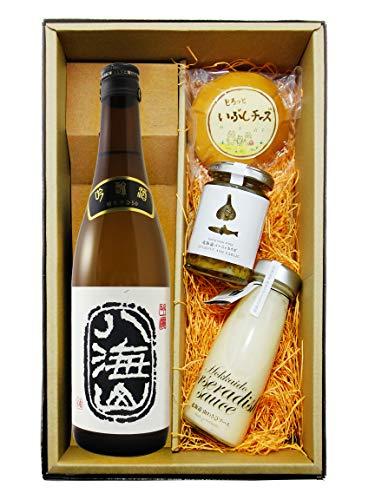 〔セット商品〕八海山 ( はっかいさん ) 吟醸 720ml + おつまみ3点(いぶしチーズ・山わさびソース・バーニャカウダ)セット