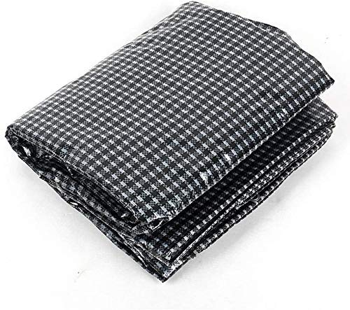 Jonist Tarpaulin Waterproof Heavy-duty-black And White Grid Cover Tarp Furniture Cover Camping Board Swimming Pool Cover, 160gg/m2, Thickness 0.3mm (Size : 7x8m)