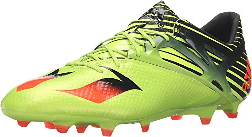adidas Messi 15.1 FG Outdoor Soccer Shoes, Semi Solar Slime/Solar Red/Black, 12.0 D(M) US