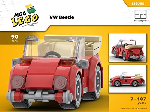 VW Beetle (Instruction Only): MOC LEGO (English Edition)