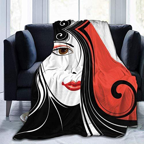 Abstrakter Hintergrund mit Decke von Frauengesicht Fr...